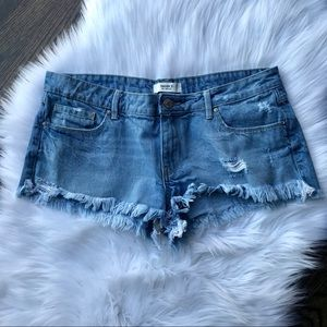 Forever 21 | Distressed Jean Shorts